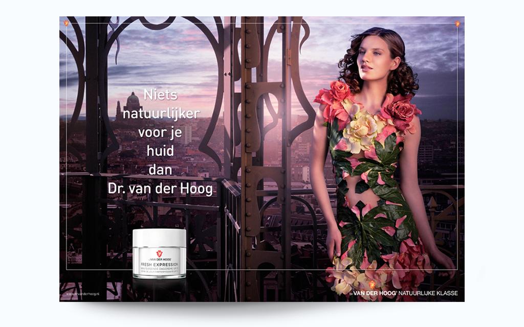 Ontwerp visual identity Dr van der Hoog - advertentie