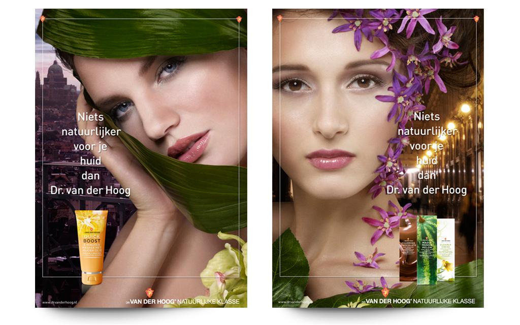 Ontwerp visual identity Dr van der Hoog - advertenties