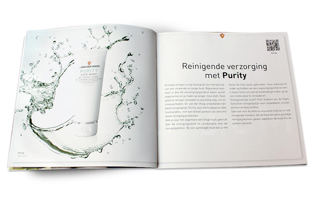 Ontwerp visual identity Dr van der Hoog - brochure