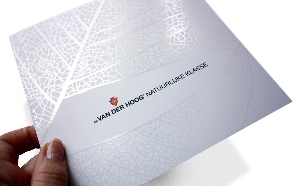 Ontwerp visual identity Dr van der Hoog - cover brochure