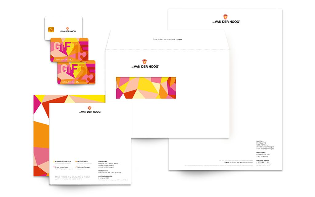 Ontwerp visual identity Dr van der Hoog - stationery