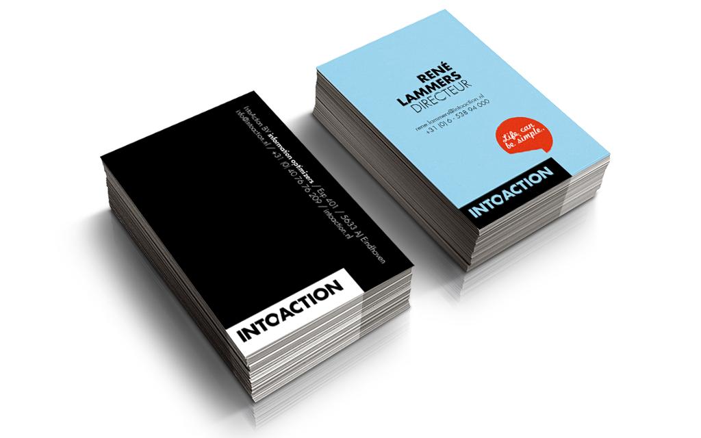 Ontwerp huisstijl IntoAction - vsiistekaartjes
