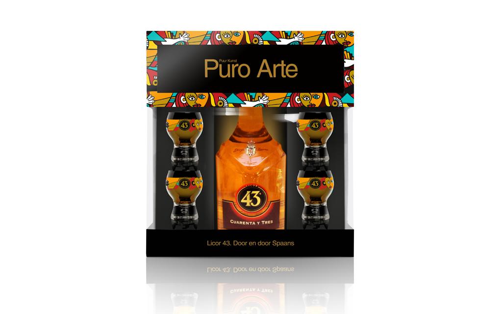 Ontwerp Licor 43 Puro Arte Verpakking 2014