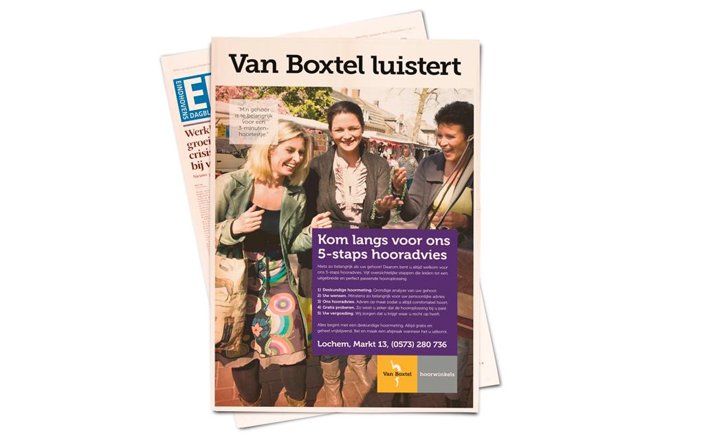 Advertentie Van Boxtel Hoorwinkels