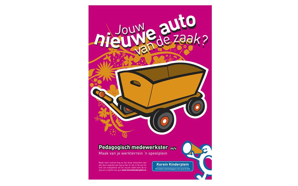 illustratie advertentie Korein Kinderplein
