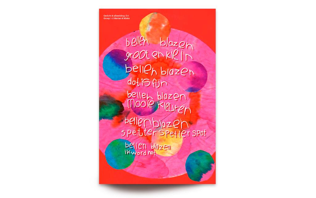 Typografie gedicht Basisschool de Rietpluim