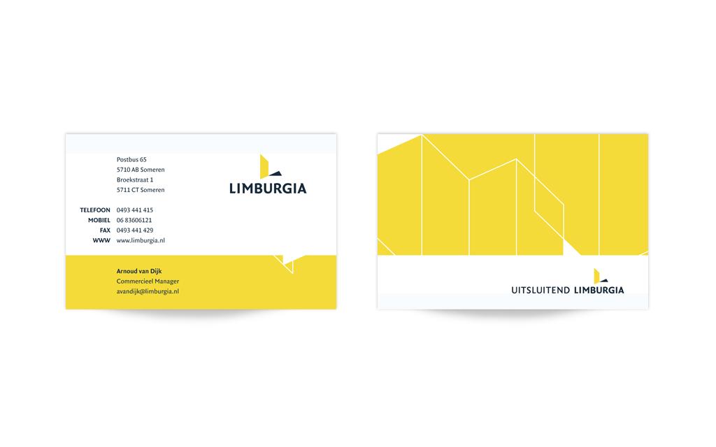 Huisstijl visitekaartje Limburgia